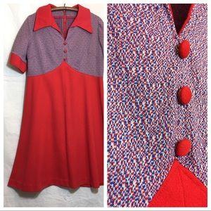 Vintage Mod A-Line Dress